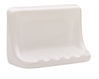 WHITE SOAP DISH 4X6